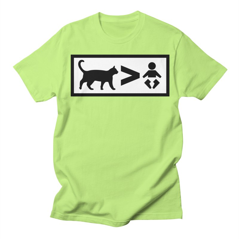 Cats Greater Than Men's T-Shirt by CrowActive