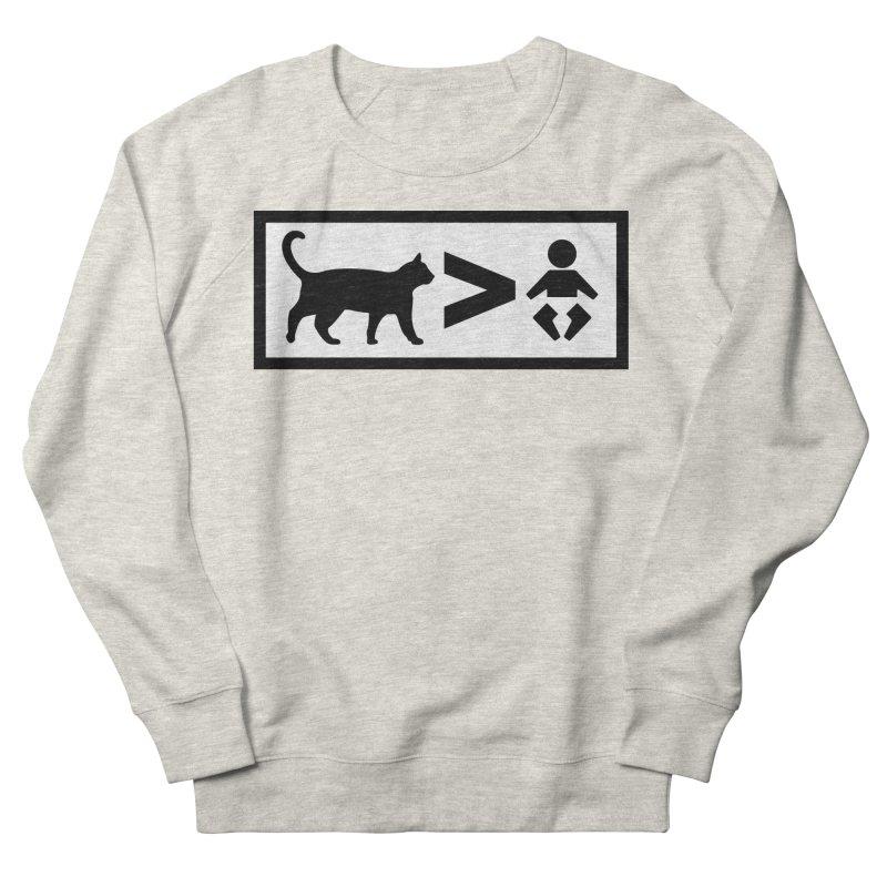 Cats Greater Than Men's Sweatshirt by CrowActive
