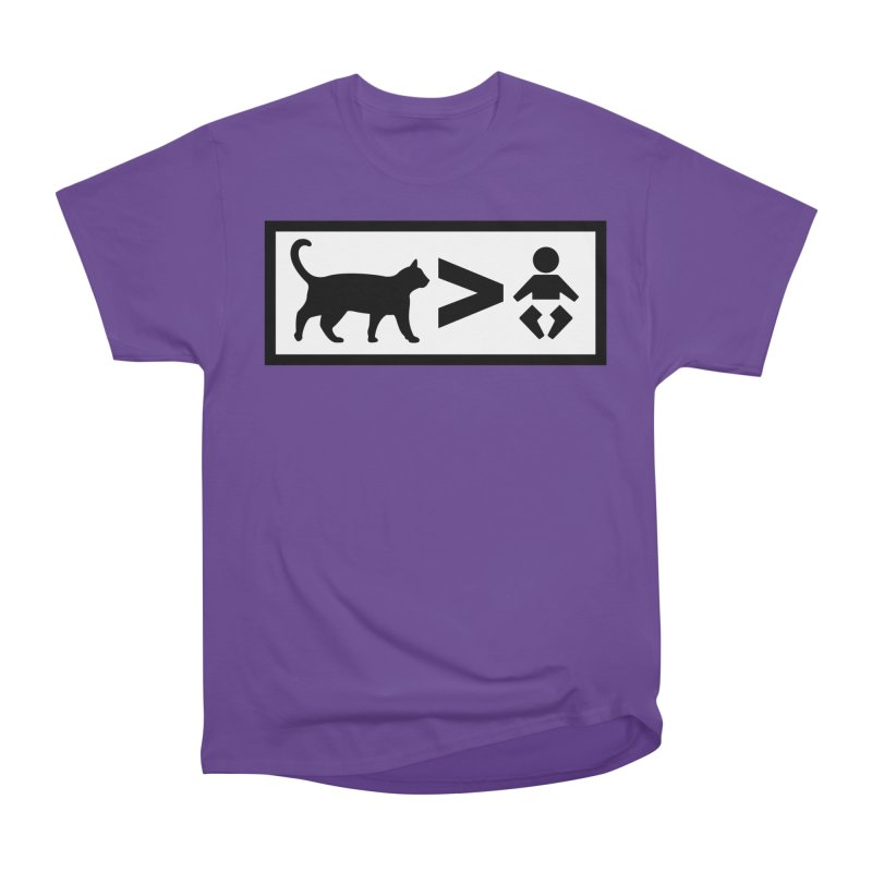Cats Greater Than Men's Heavyweight T-Shirt by CrowActive