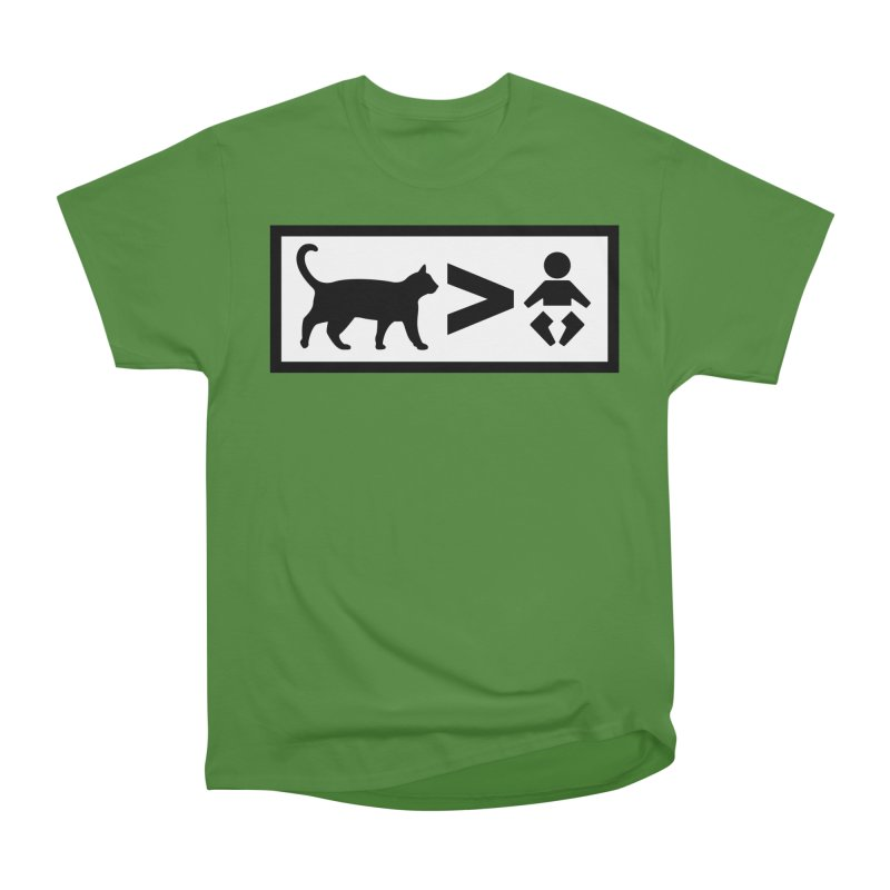 Cats Greater Than Men's Classic T-Shirt by CrowActive