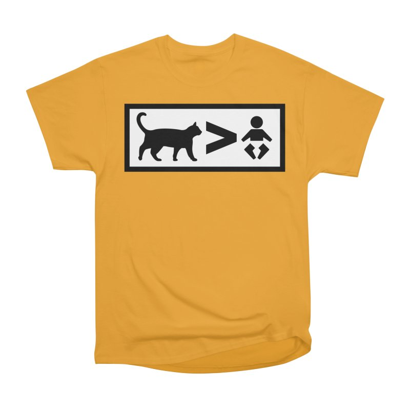 Cats Greater Than Women's Classic Unisex T-Shirt by CrowActive