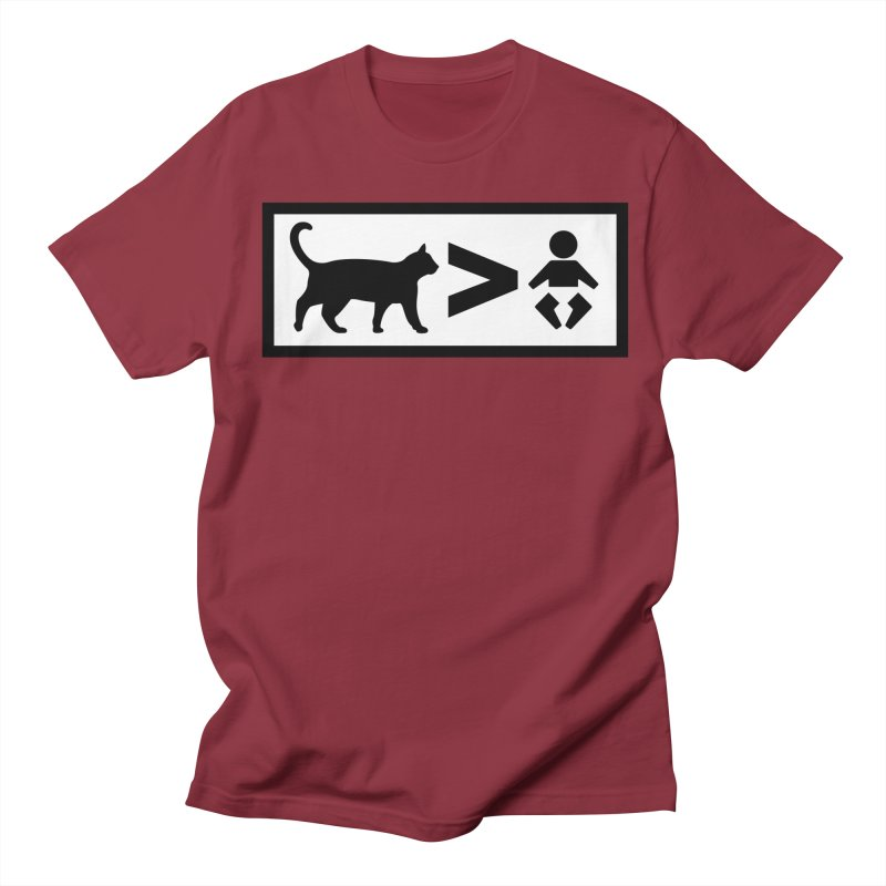 Cats Greater Than Men's Regular T-Shirt by CrowActive