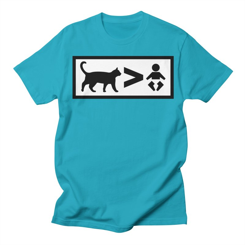 Cats Greater Than Women's Regular Unisex T-Shirt by CrowActive
