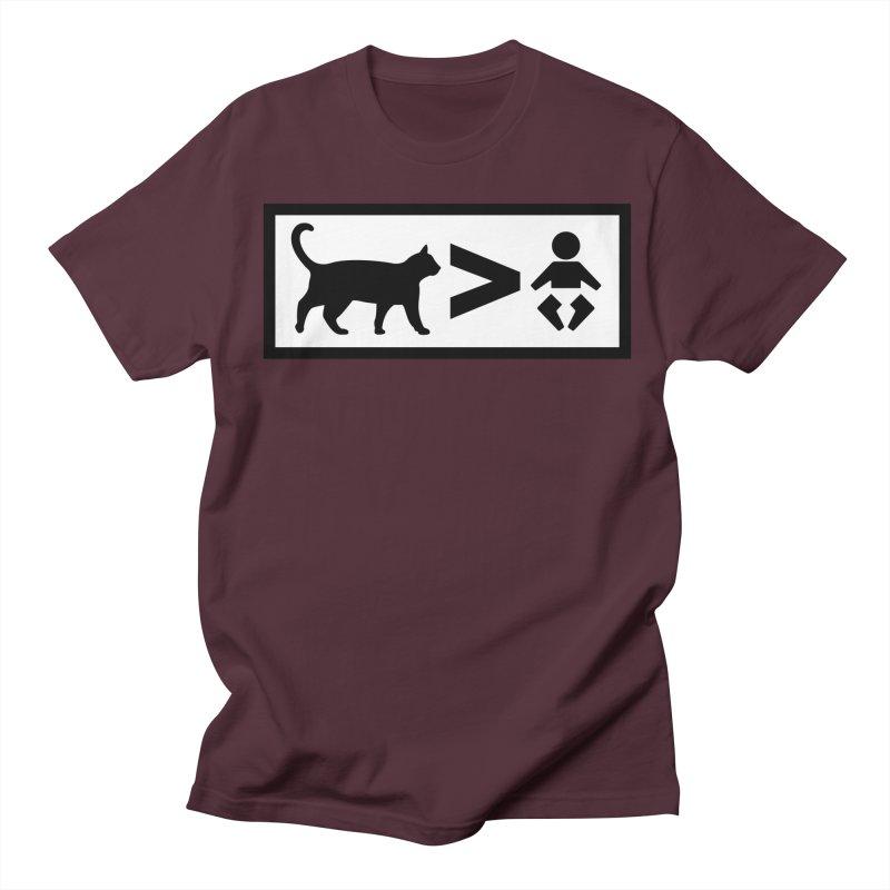 Cats Greater Than Men's Regular T-Shirt by CrowActive
