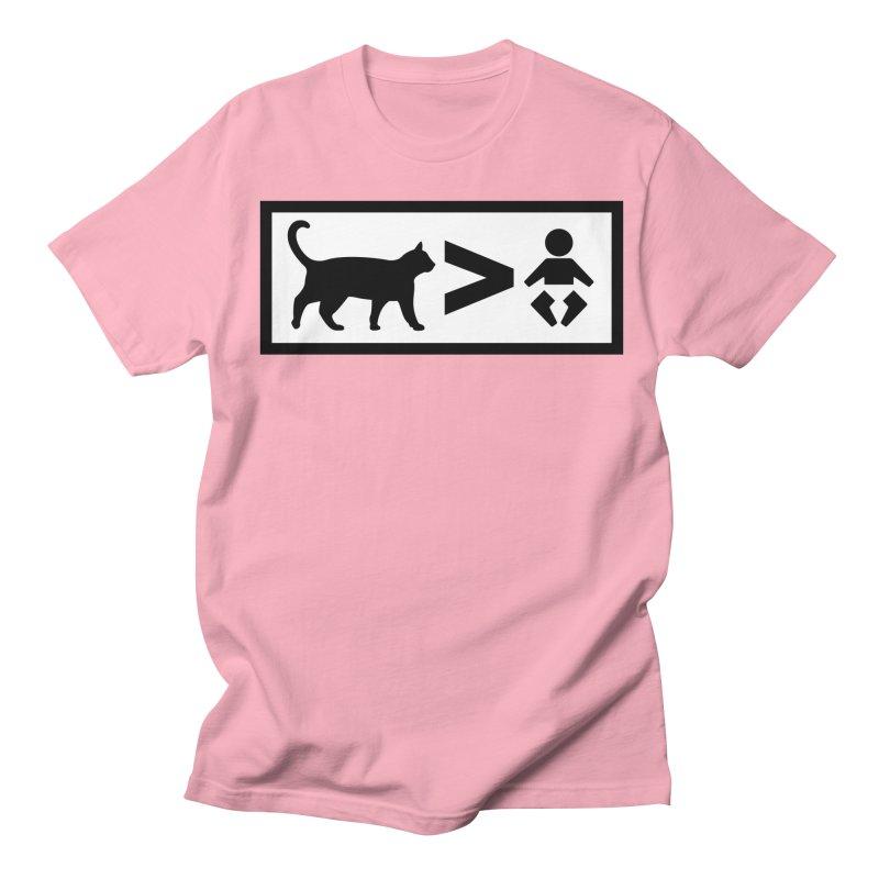 Cats Greater Than Women's Regular Unisex T-Shirt by CrowActive