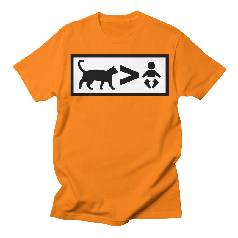 Cats Greater Than Women's Unisex T-Shirt by CrowActive