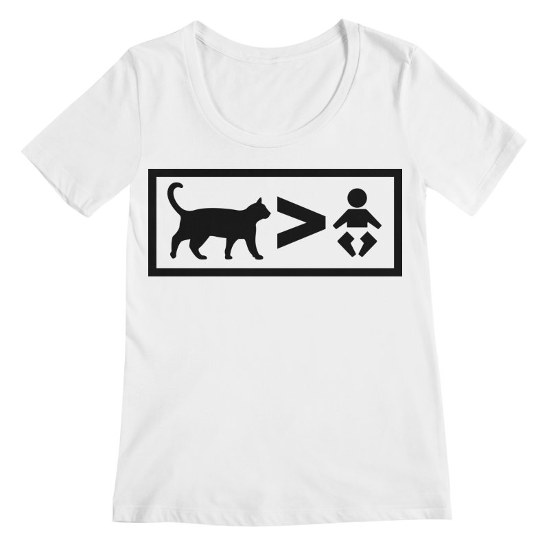 Cats Greater Than Women's Regular Scoop Neck by CrowActive