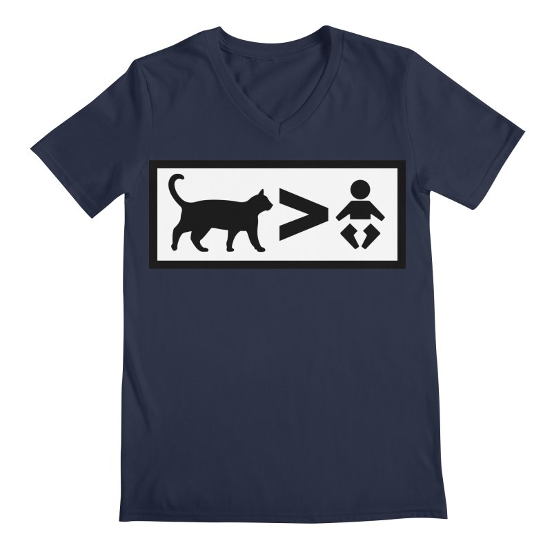 Cats Greater Than Men's V-Neck by CrowActive
