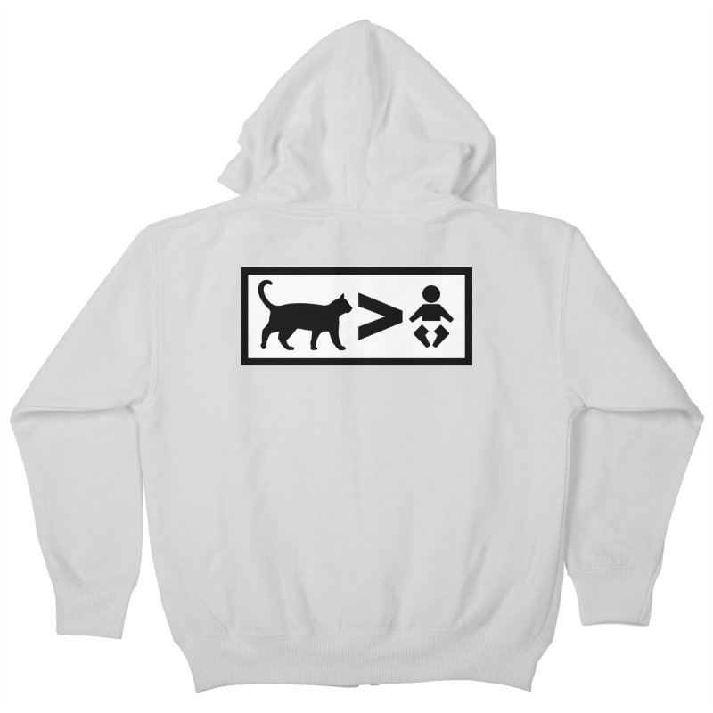 Cats Greater Than Kids Zip-Up Hoody by CrowActive