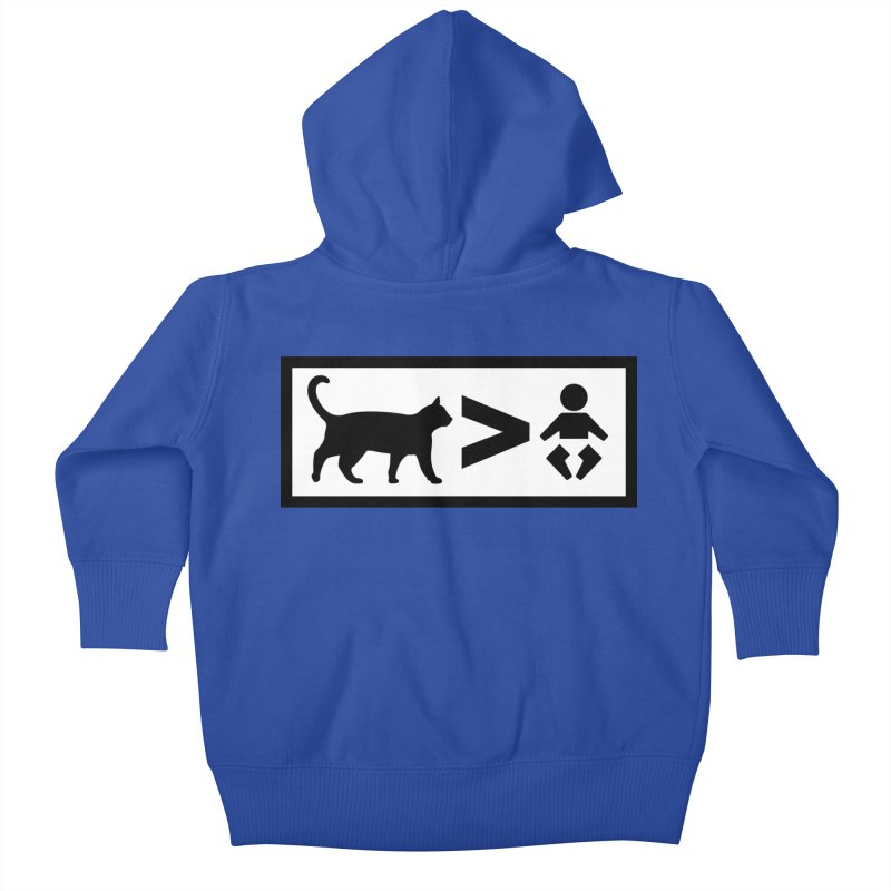 Cats Greater Than Kids Baby Zip-Up Hoody by CrowActive