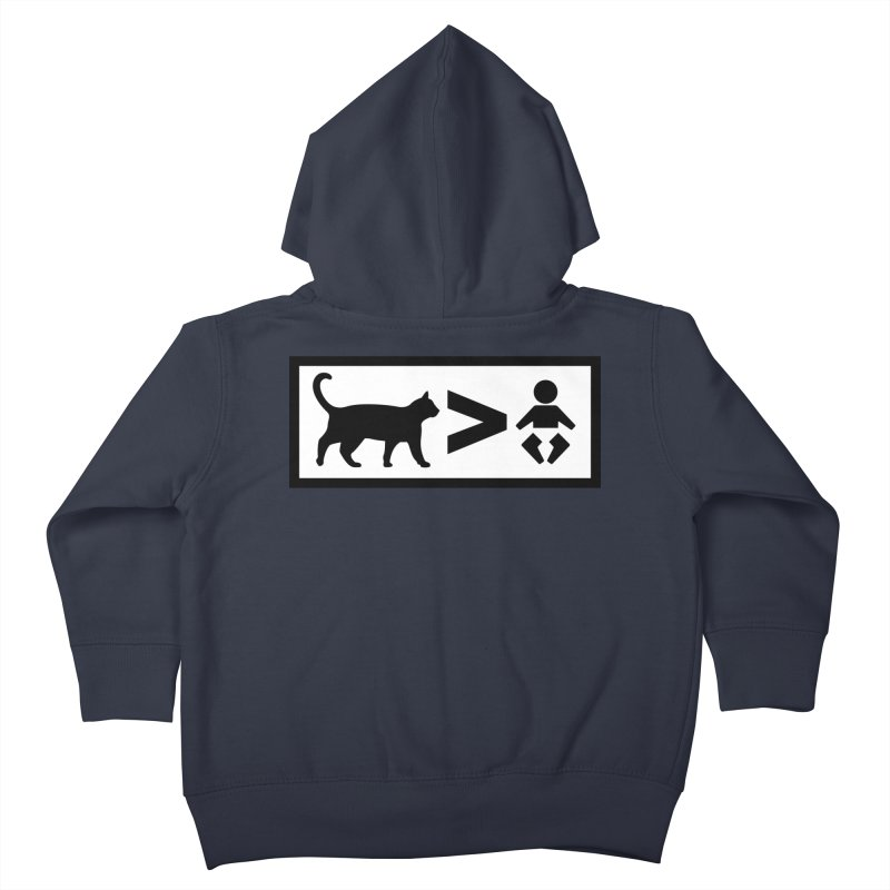 Cats Greater Than Kids Toddler Zip-Up Hoody by CrowActive