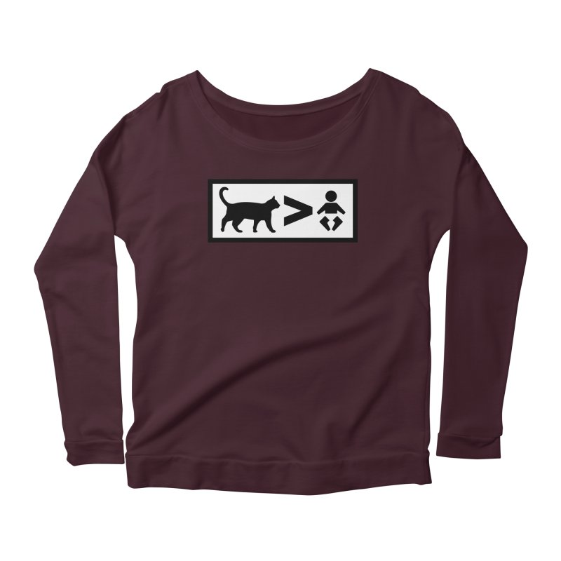 Cats Greater Than Women's Longsleeve T-Shirt by CrowActive