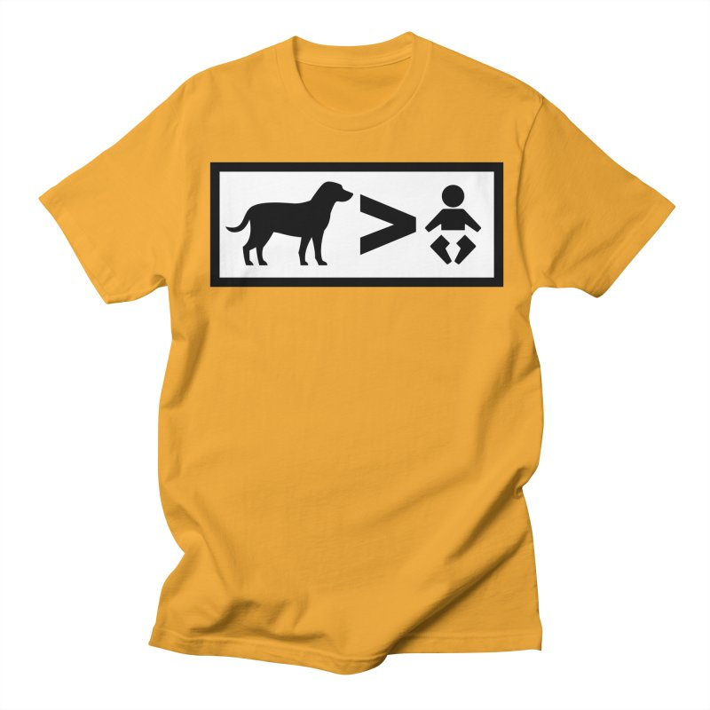 Dogs Greater Than Men's T-Shirt by CrowActive