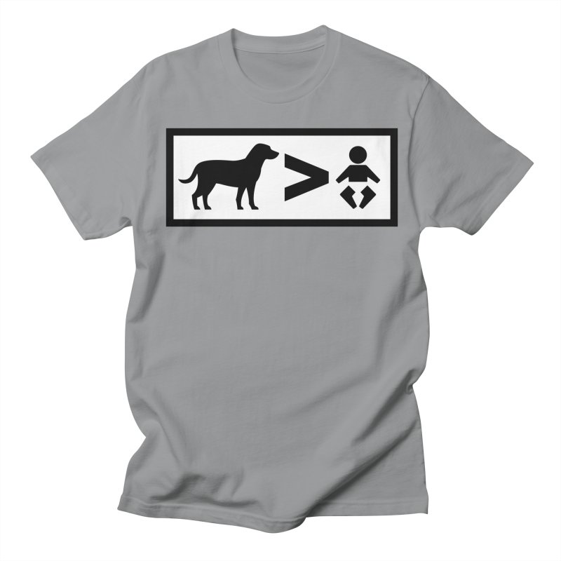 Dogs Greater Than in Men's Regular T-Shirt Slate by CrowActive