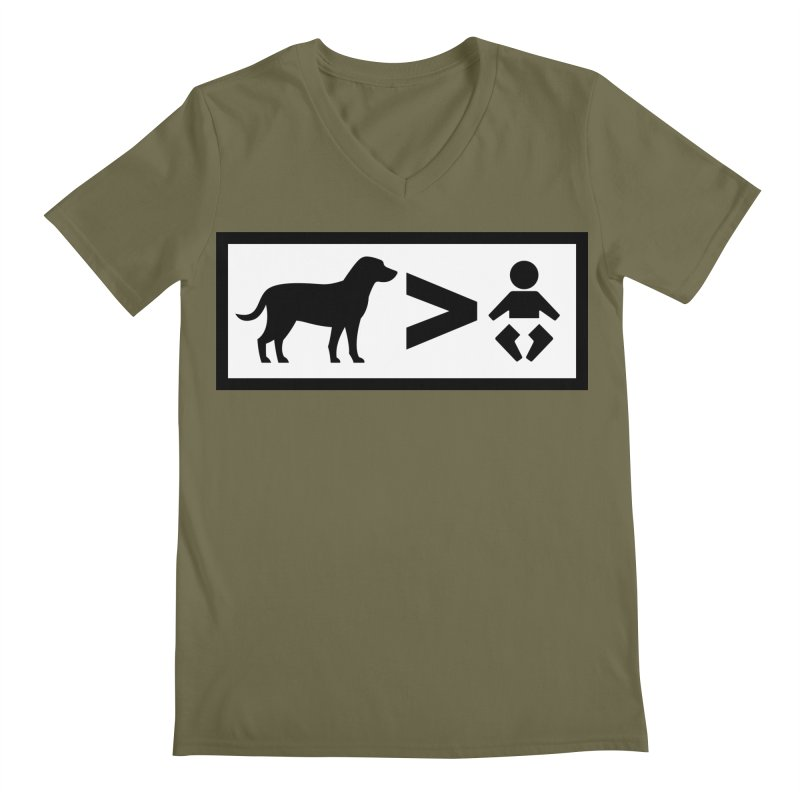 Dogs Greater Than Men's V-Neck by CrowActive