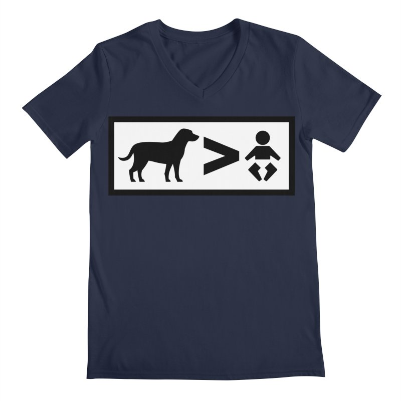 Dogs Greater Than Men's Regular V-Neck by CrowActive