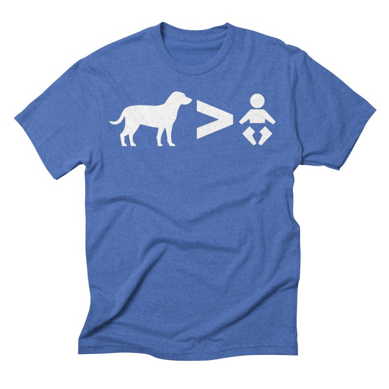 Dogs Greater Than (White) Men's T-Shirt by CrowActive