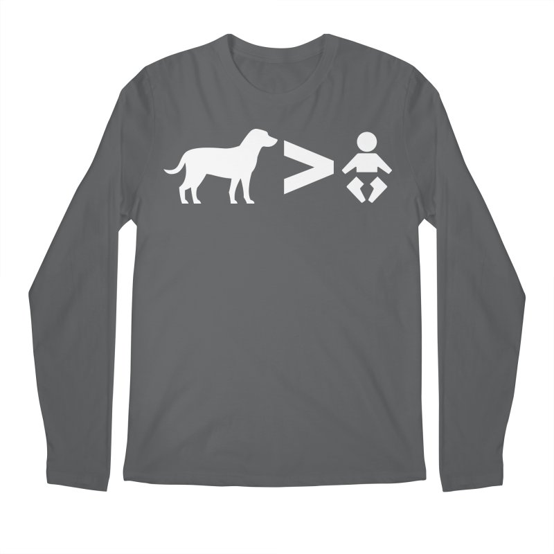 Dogs Greater Than (White) Men's Longsleeve T-Shirt by CrowActive