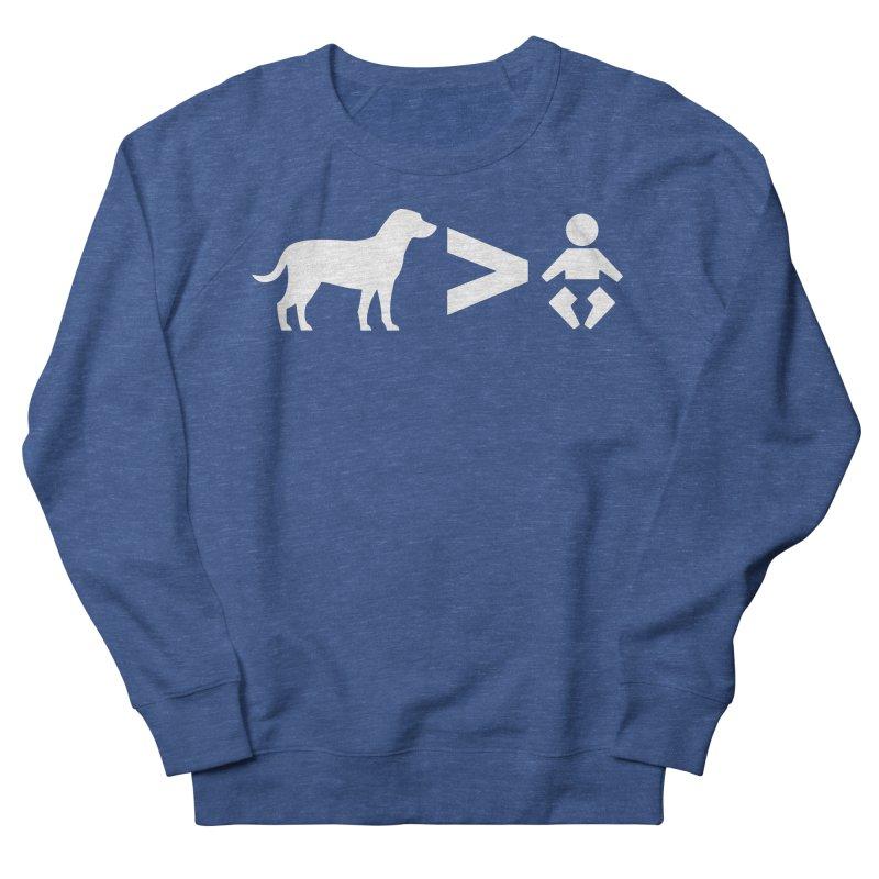 Dogs Greater Than (White) Men's Sweatshirt by CrowActive