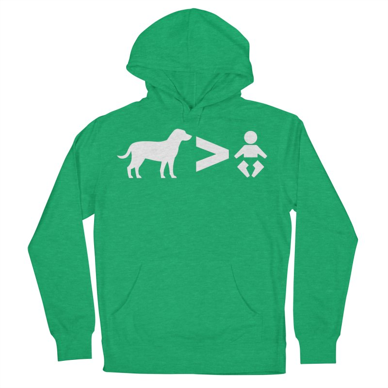 Dogs Greater Than (White) Men's Pullover Hoody by CrowActive