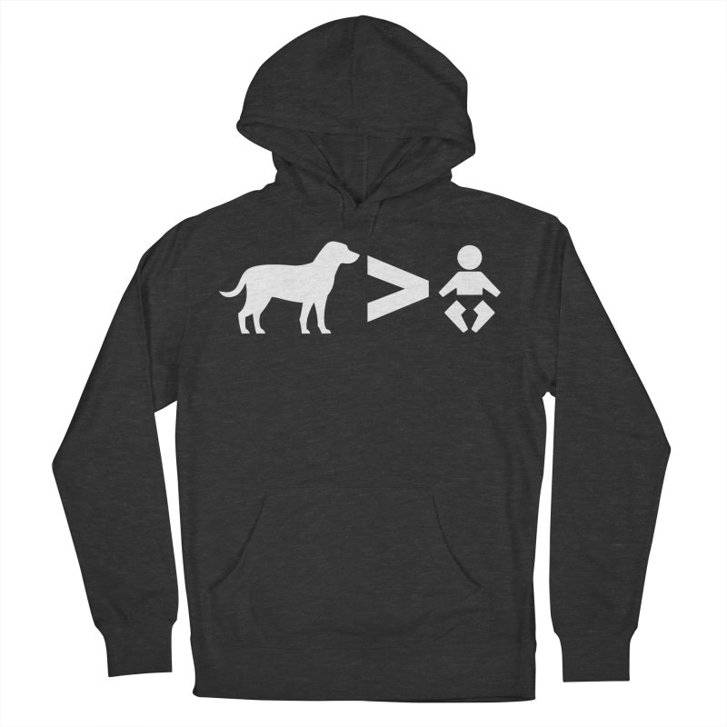 Dogs Greater Than (White) Men's French Terry Pullover Hoody by CrowActive