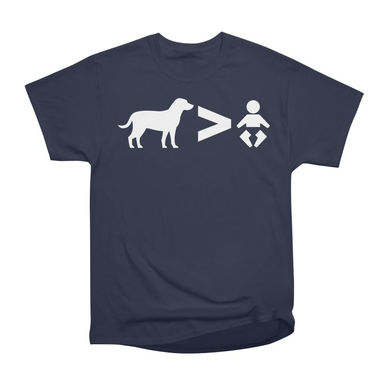 Dogs Greater Than (White) Men's Heavyweight T-Shirt by CrowActive