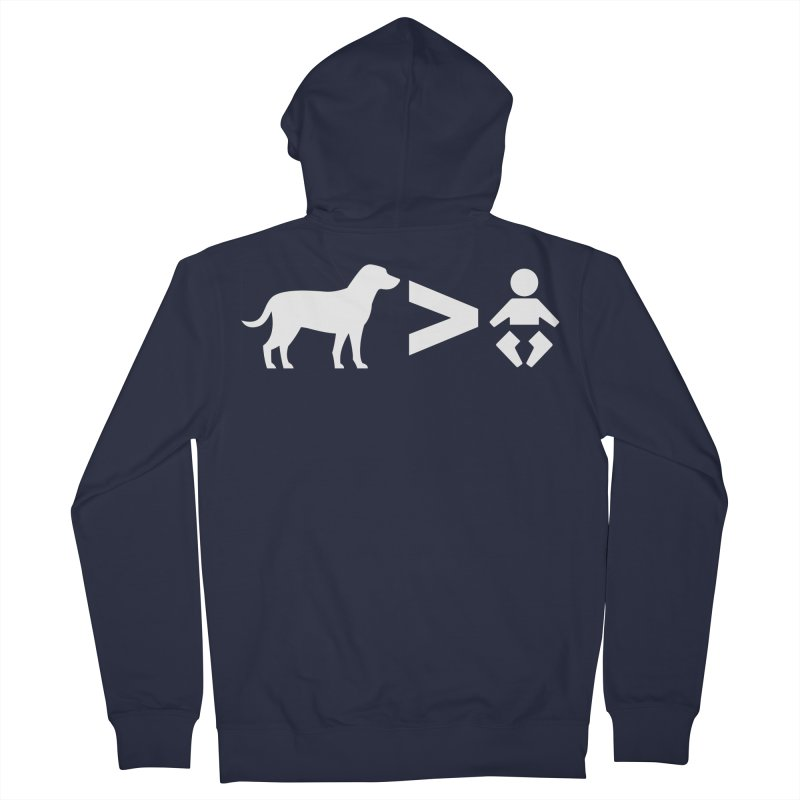 Dogs Greater Than (White) Men's French Terry Zip-Up Hoody by CrowActive