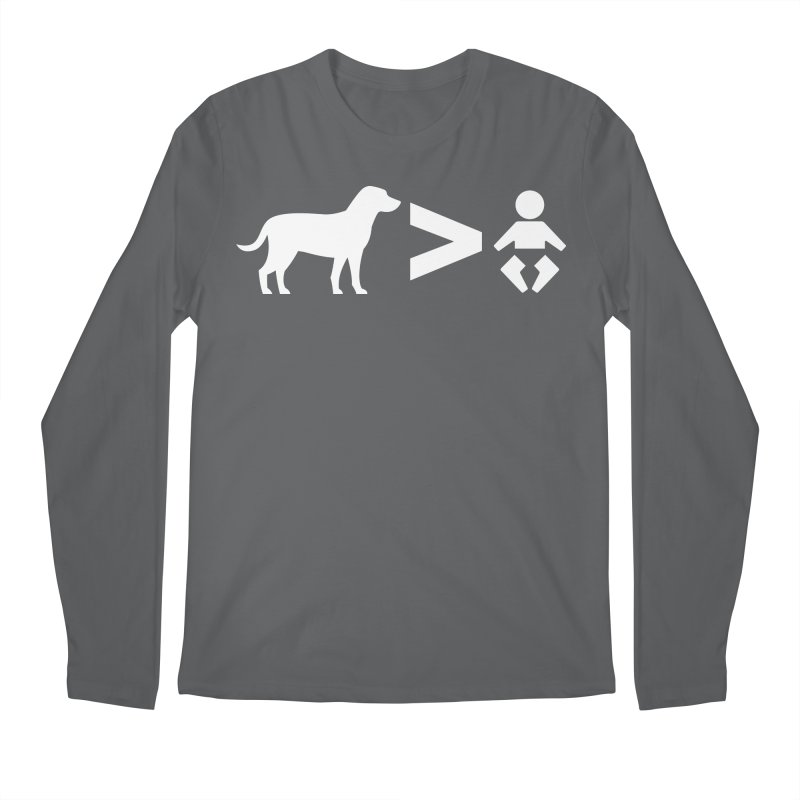 Dogs Greater Than (White) Men's Regular Longsleeve T-Shirt by CrowActive