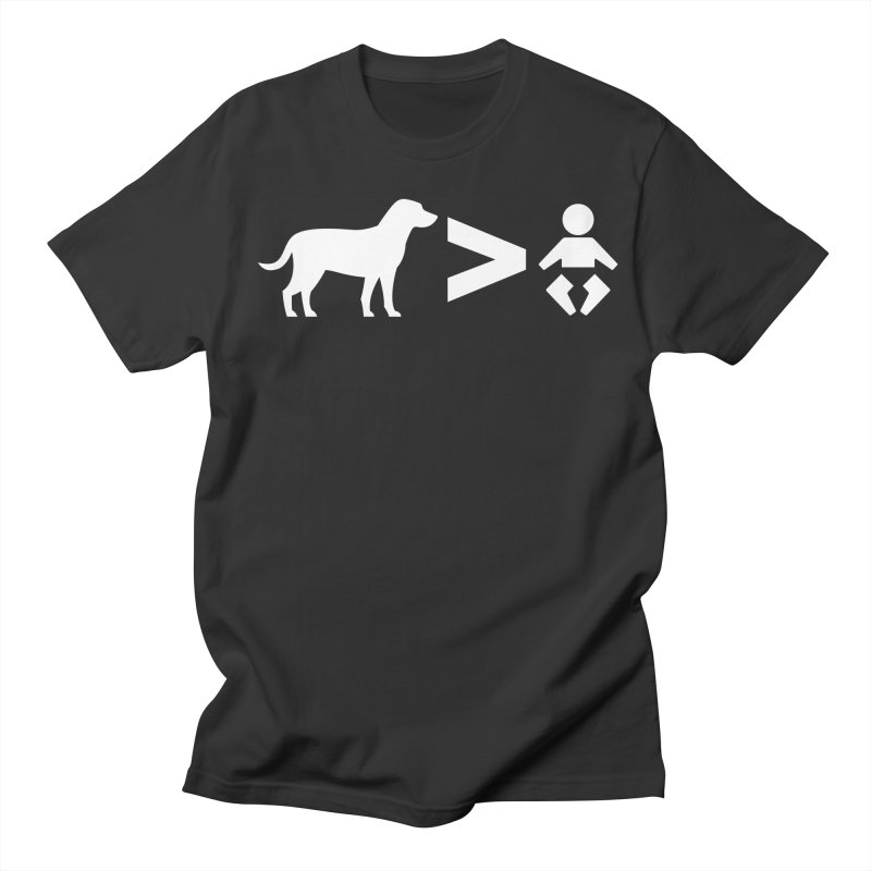 Dogs Greater Than (White) Men's Regular T-Shirt by CrowActive