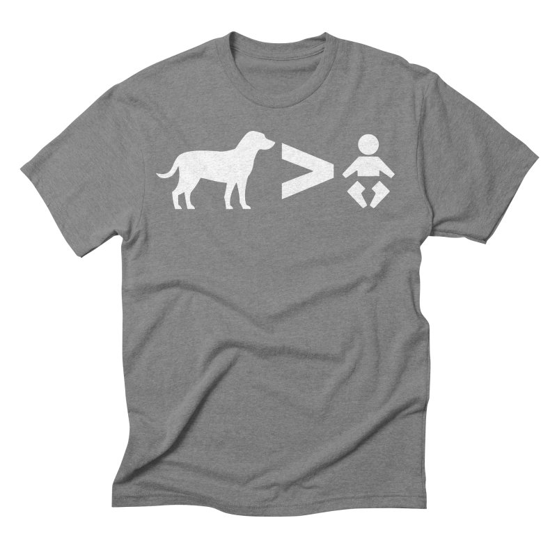 Dogs Greater Than (White) Men's Triblend T-Shirt by CrowActive