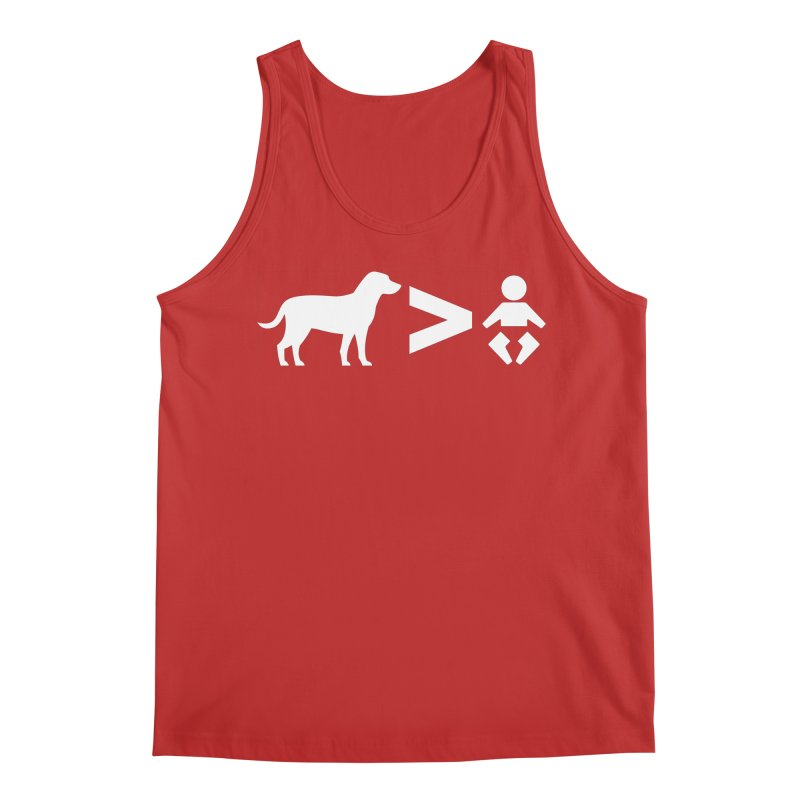 Dogs Greater Than (White) Men's Regular Tank by CrowActive