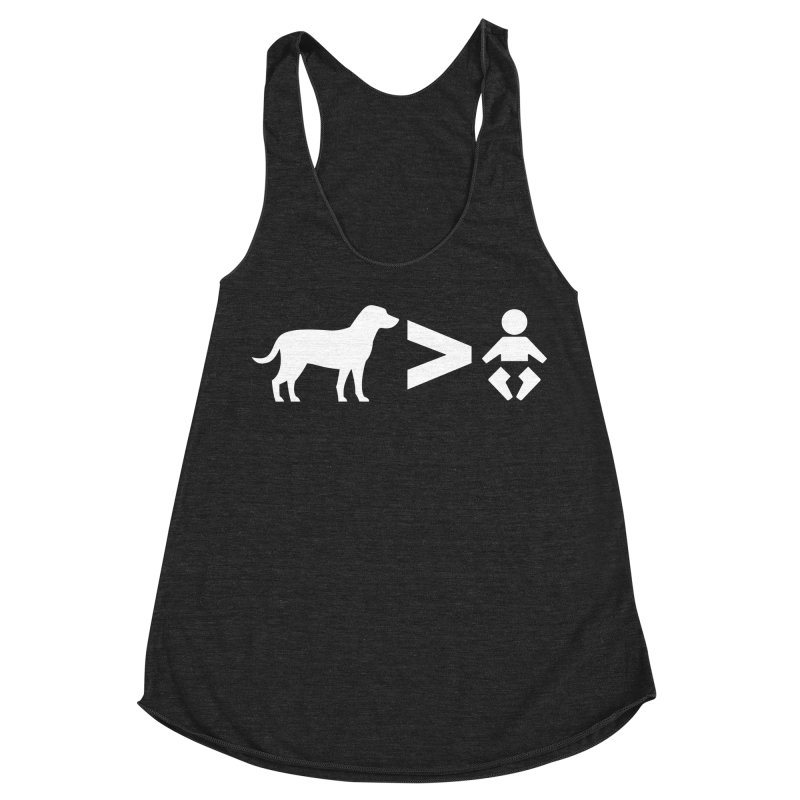 Dogs Greater Than (White) Women's Racerback Triblend Tank by CrowActive