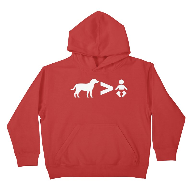 Dogs Greater Than (White) Kids Pullover Hoody by CrowActive