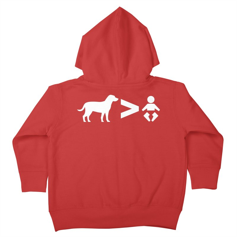 Dogs Greater Than (White) Kids Toddler Zip-Up Hoody by CrowActive