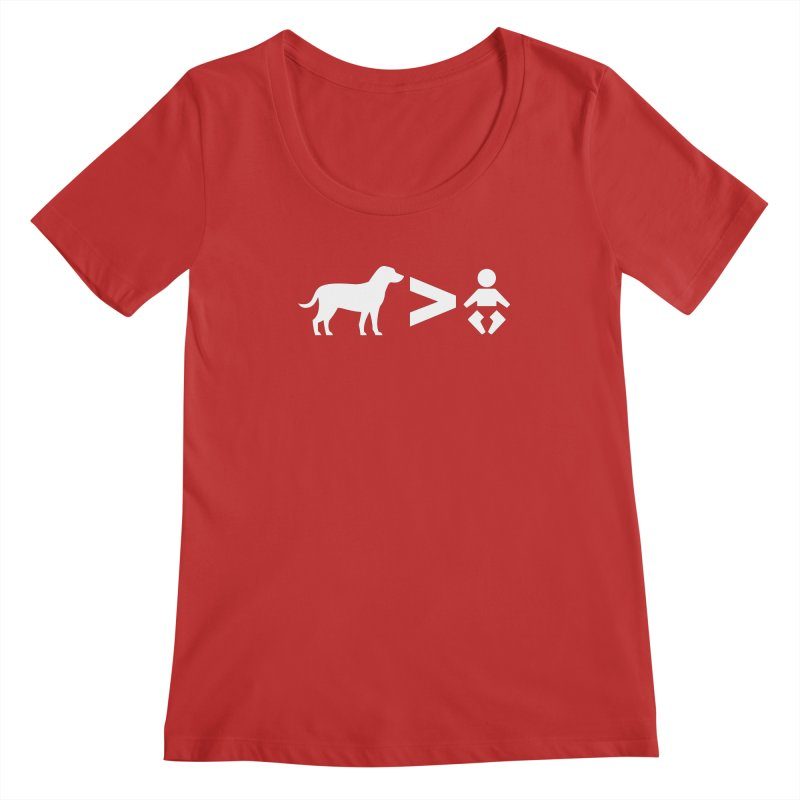 Dogs Greater Than (White) Women's Scoop Neck by CrowActive