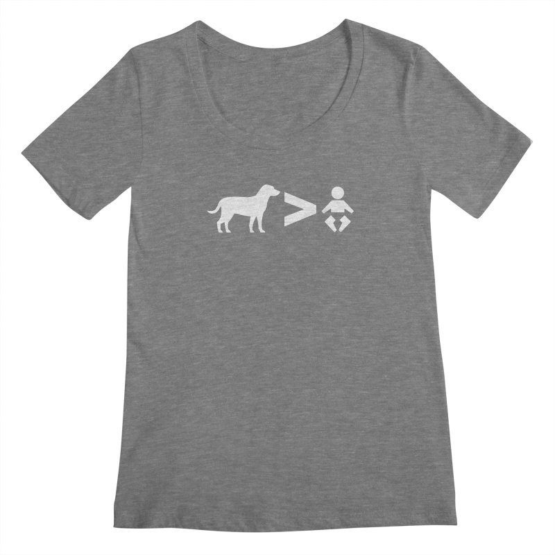 Dogs Greater Than (White) Women's Scoopneck by CrowActive