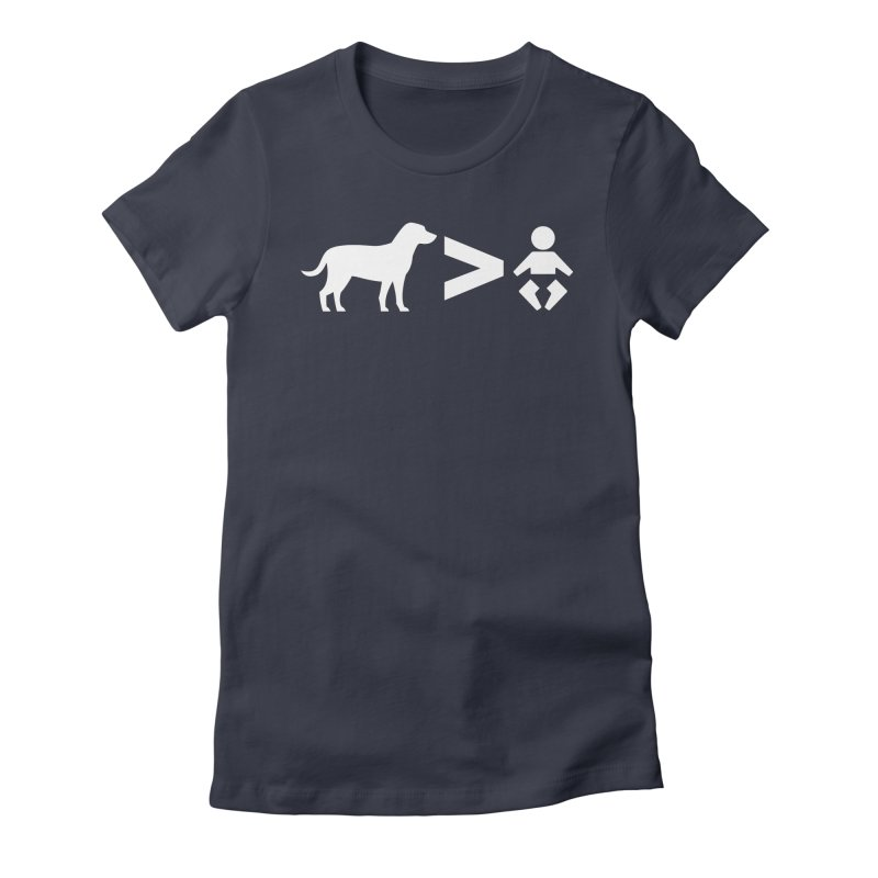 Dogs Greater Than (White) Women's Fitted T-Shirt by CrowActive