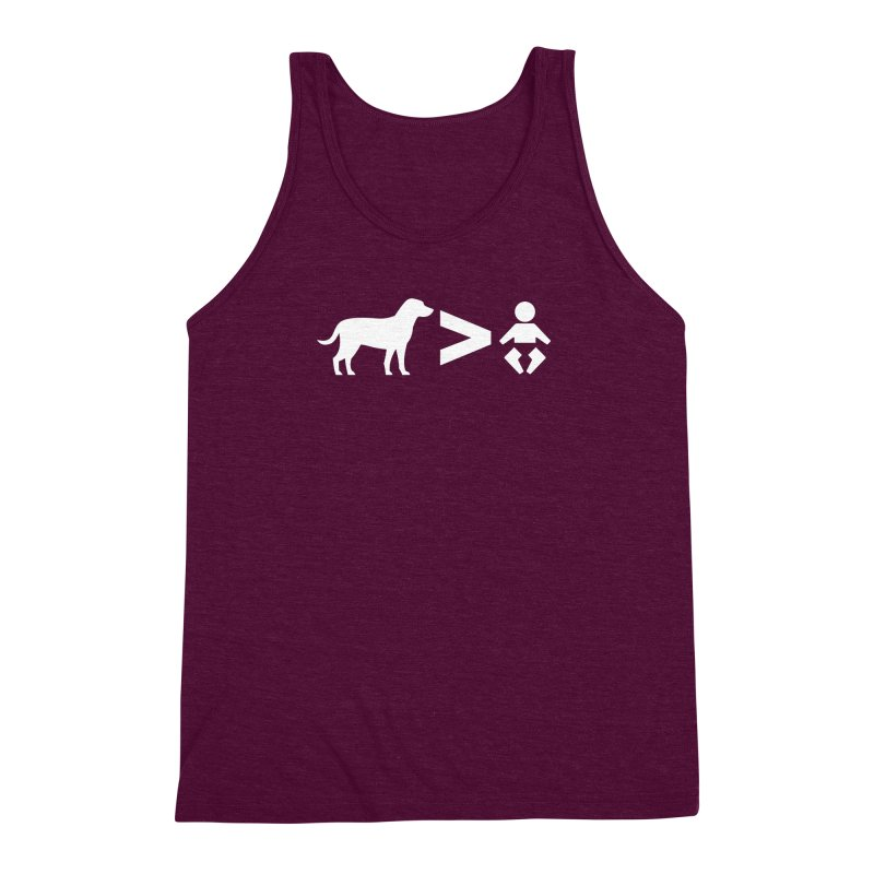Dogs Greater Than (White) Men's Triblend Tank by CrowActive