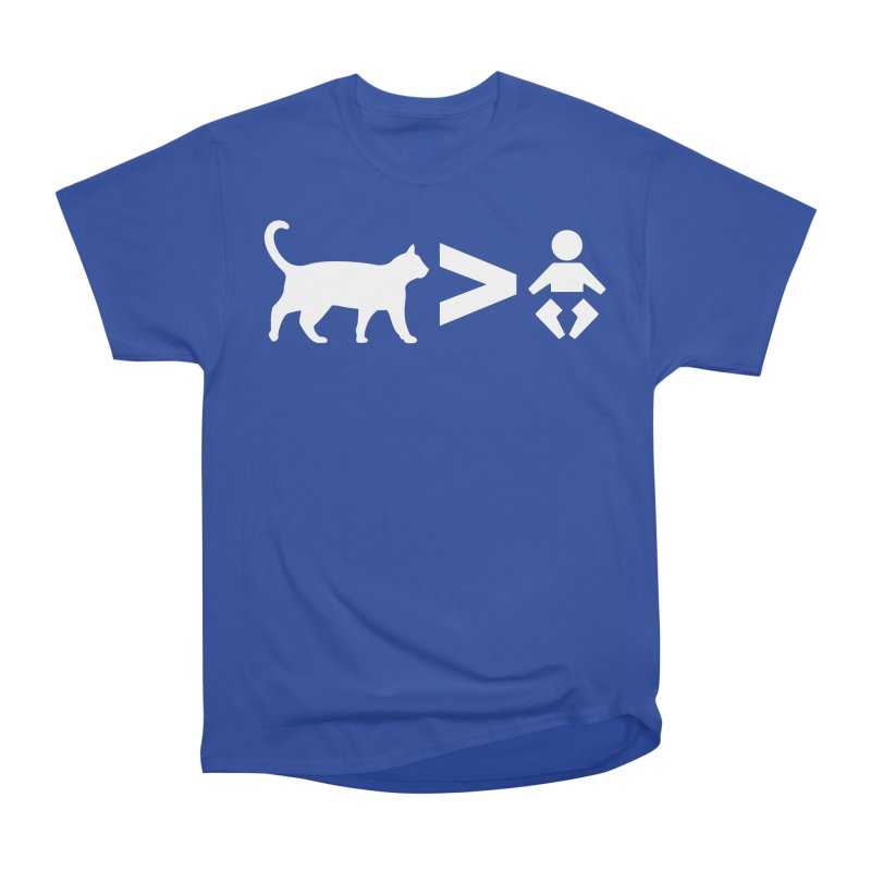 Cats Greater Than (White) Men's Heavyweight T-Shirt by CrowActive