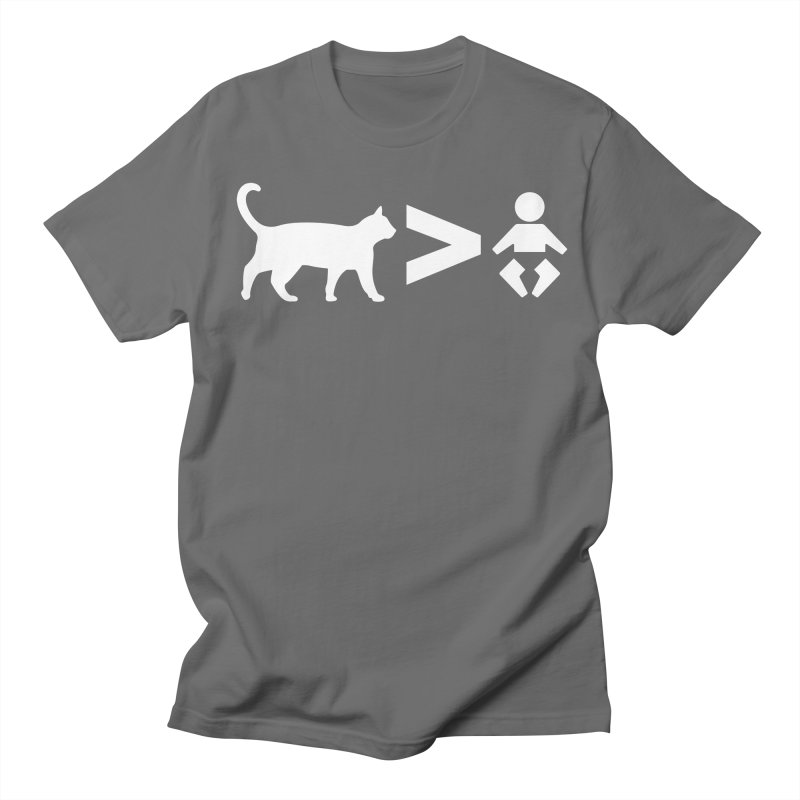 Cats Greater Than (White) Men's Regular T-Shirt by CrowActive