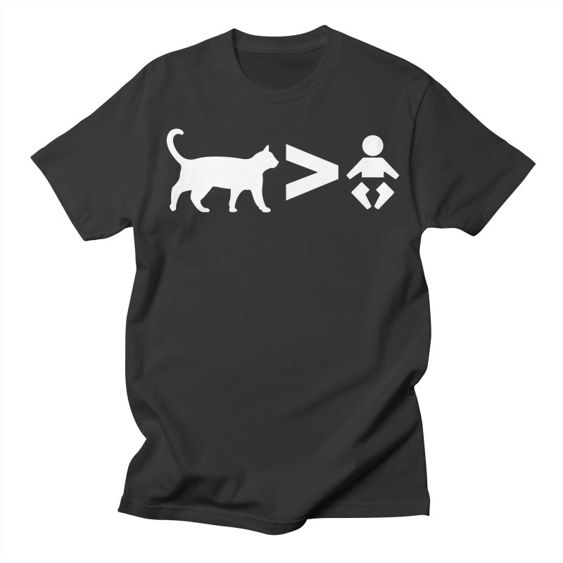 Cats Greater Than (White) Women's Regular Unisex T-Shirt by CrowActive