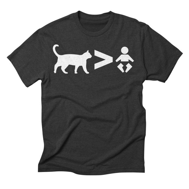 Cats Greater Than (White) Men's Triblend T-Shirt by CrowActive