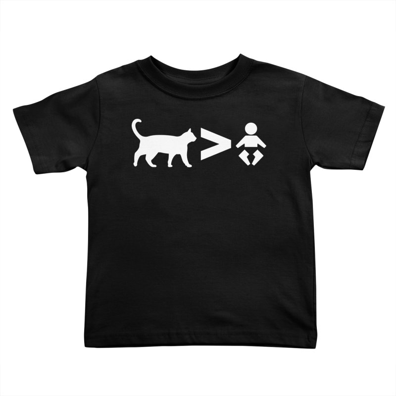 Cats Greater Than (White) Kids Toddler T-Shirt by CrowActive
