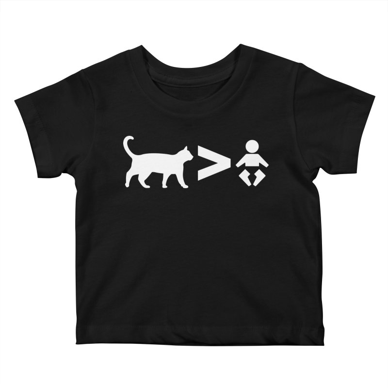 Cats Greater Than (White) Kids Baby T-Shirt by CrowActive