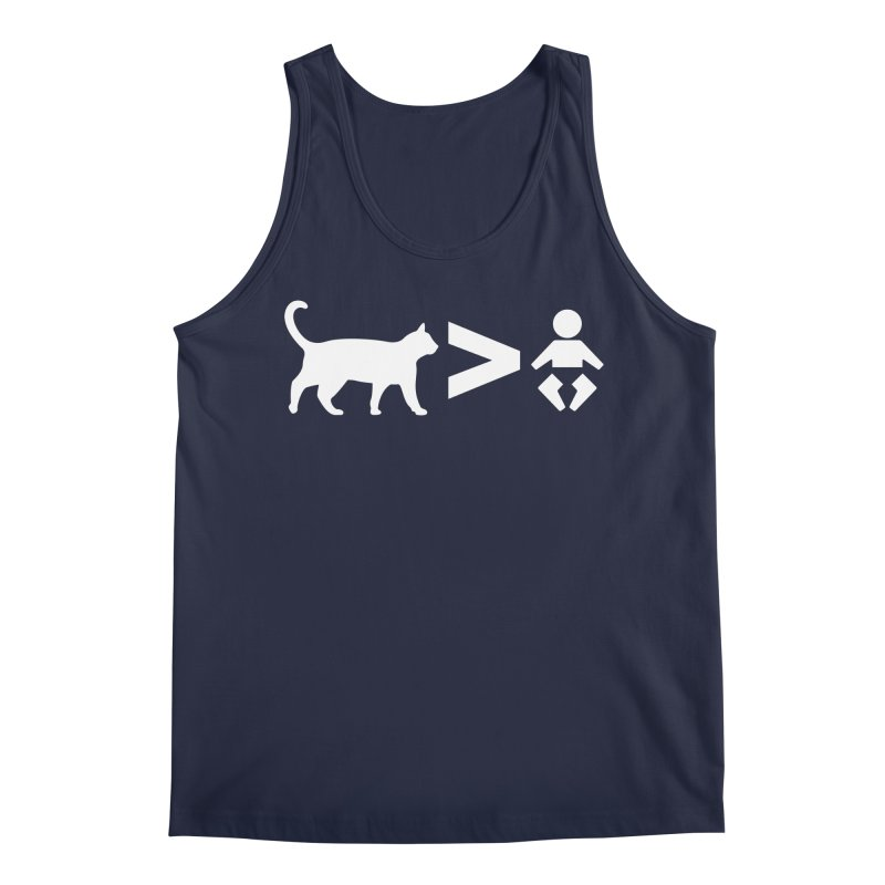Cats Greater Than (White) Men's Tank by CrowActive