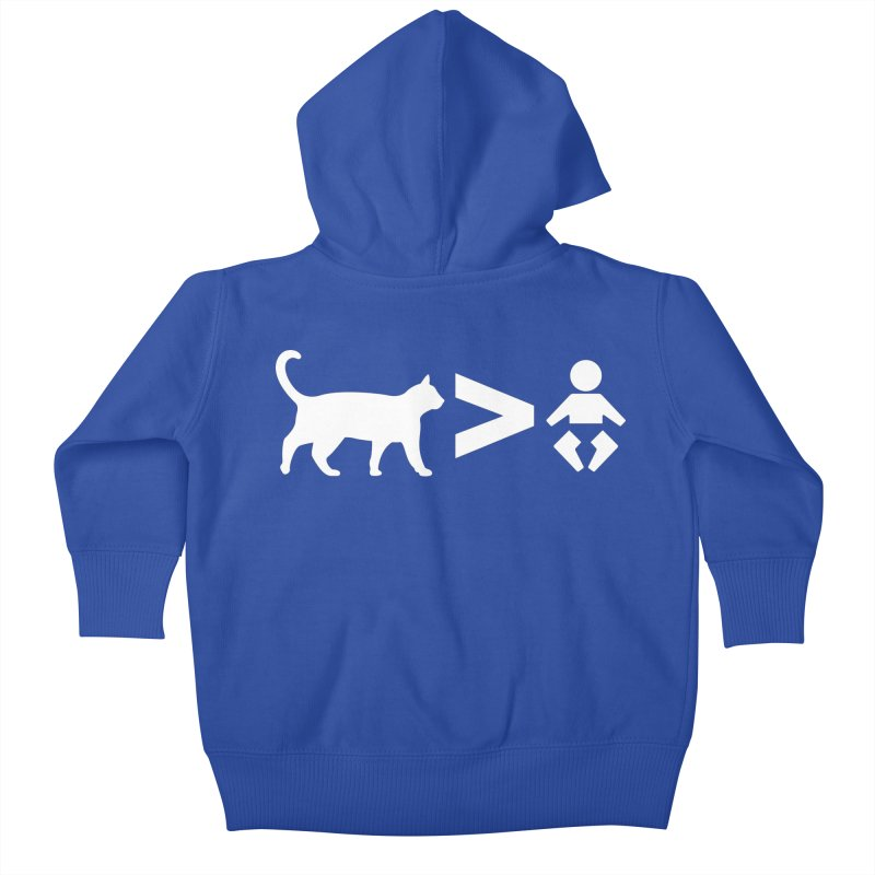 Cats Greater Than (White) Kids Baby Zip-Up Hoody by CrowActive