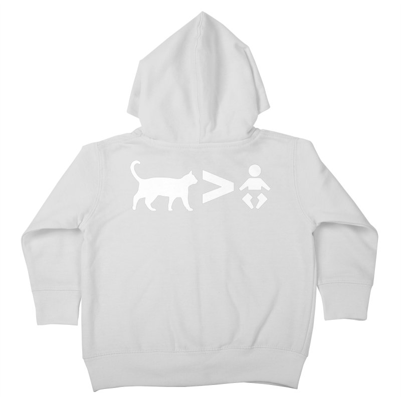 Cats Greater Than (White) Kids Toddler Zip-Up Hoody by CrowActive