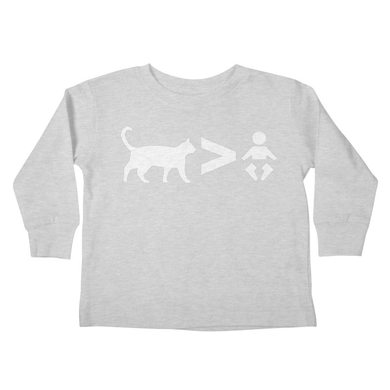 Cats Greater Than (White) Kids Toddler Longsleeve T-Shirt by CrowActive