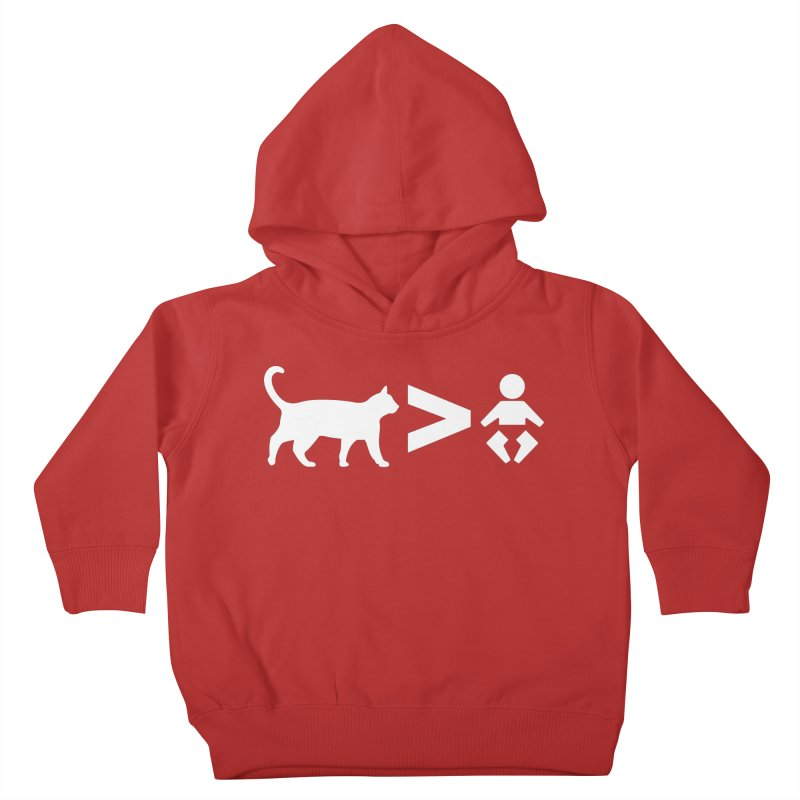 Cats Greater Than (White) Kids Toddler Pullover Hoody by CrowActive