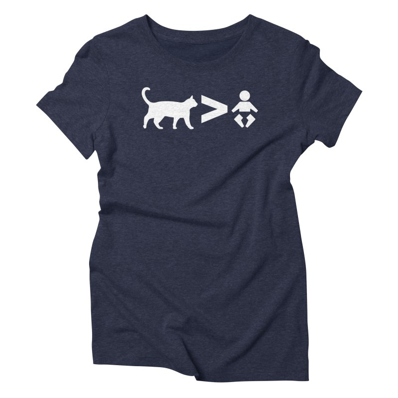 Cats Greater Than (White) Women's T-Shirt by CrowActive